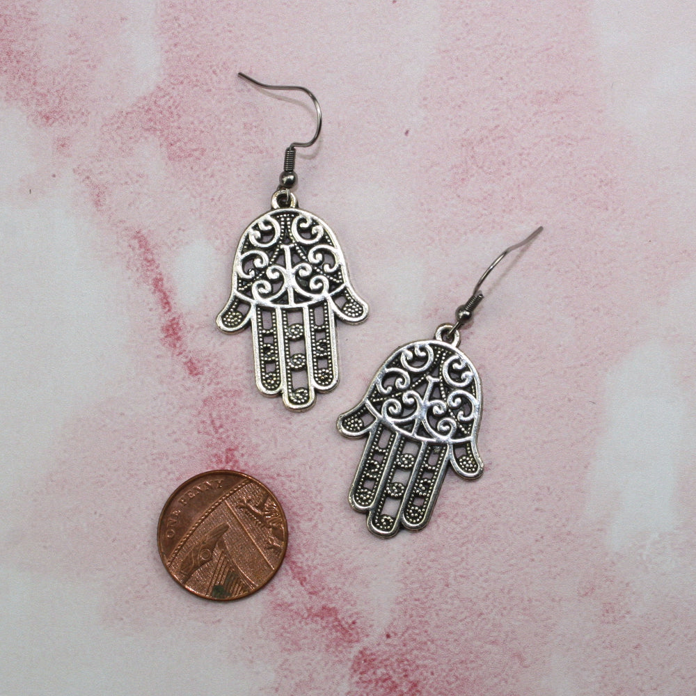 Hamsa Earrings - Sour Cherry
