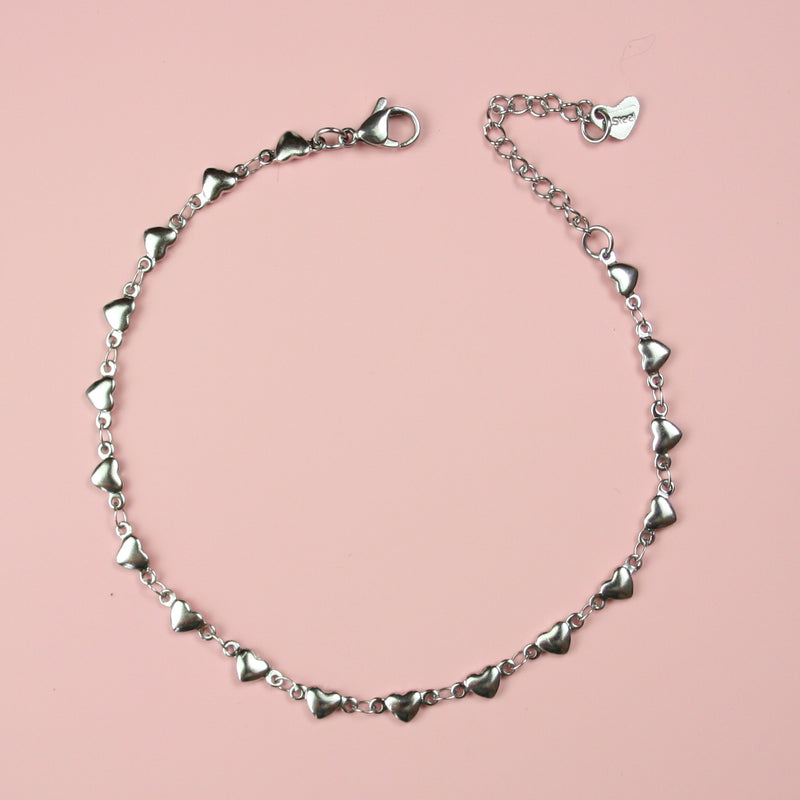 Heart Anklet - Sour Cherry