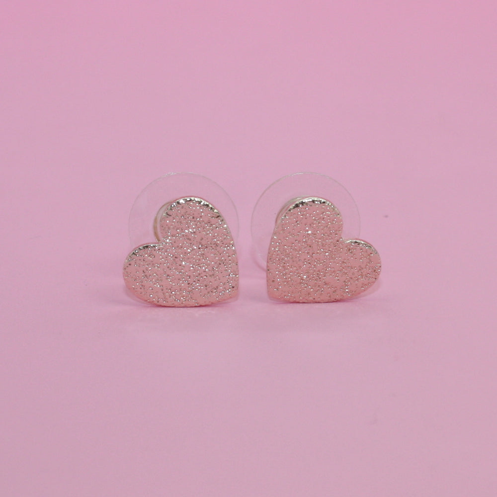 Heart Stud Earrings Set - Sour Cherry