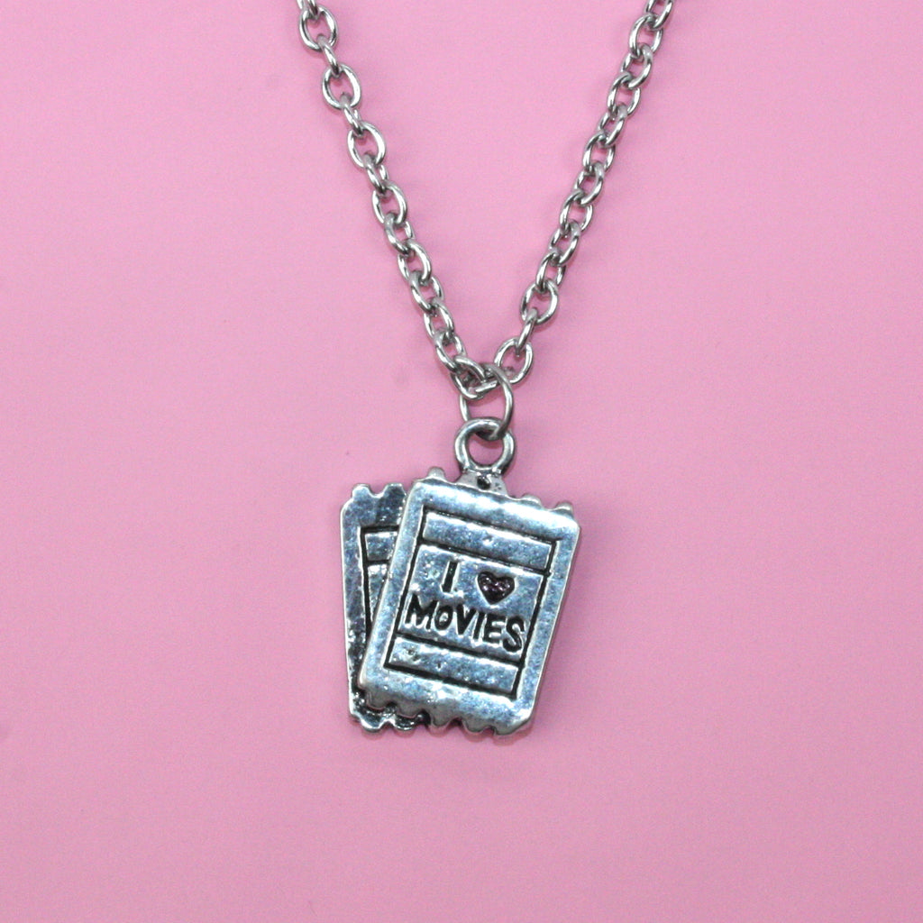 Movie Ticket Necklace - Sour Cherry