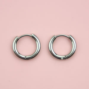 15mm Stainless Steel Hoop Earrings