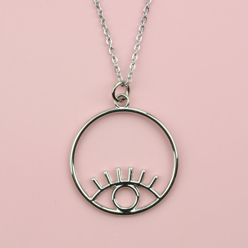 Circle Eye Necklace (Stainless steel)