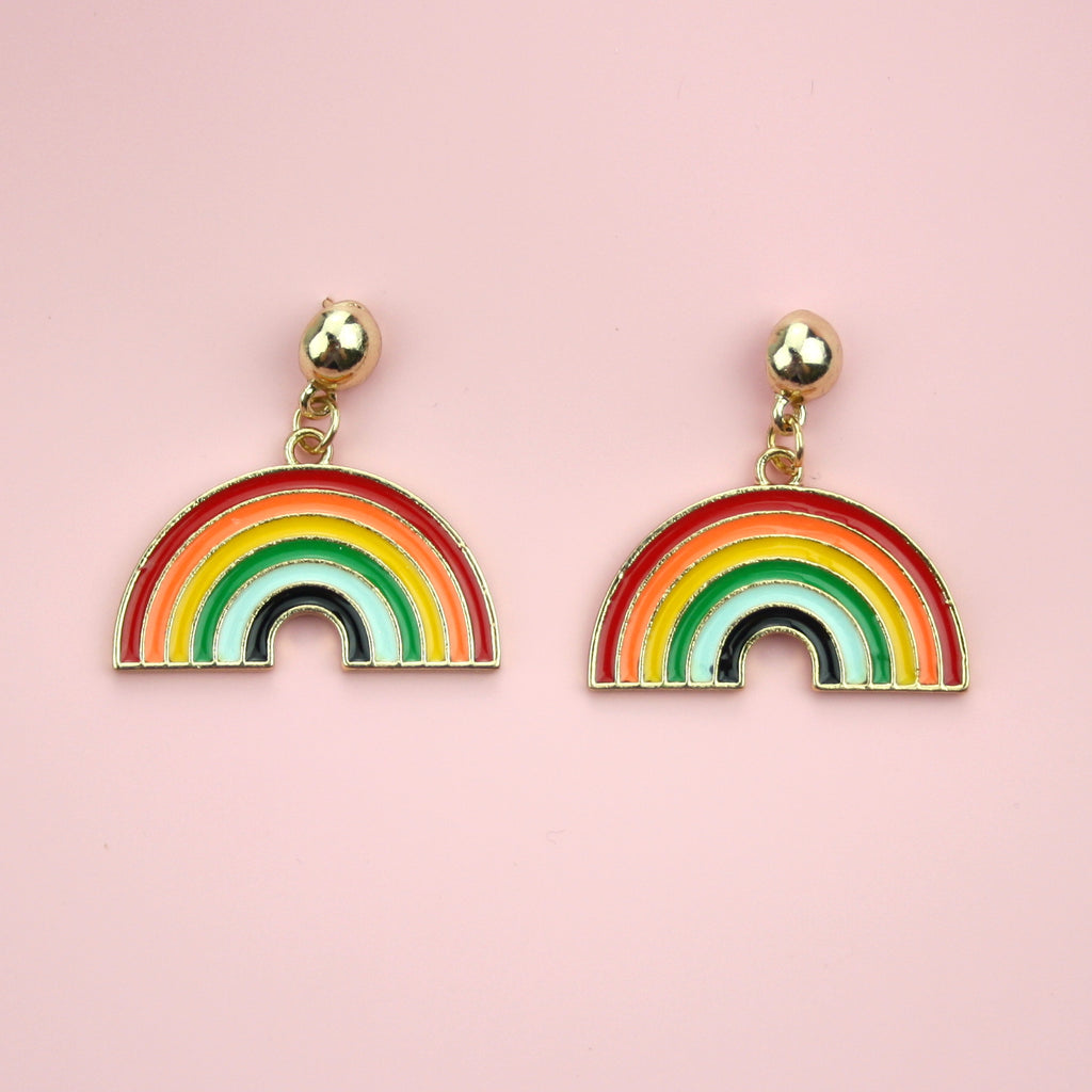 Large Rainbow Earrings