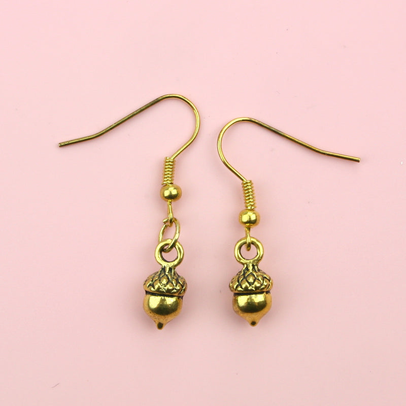 Acorn Earrings (Gold Plated)