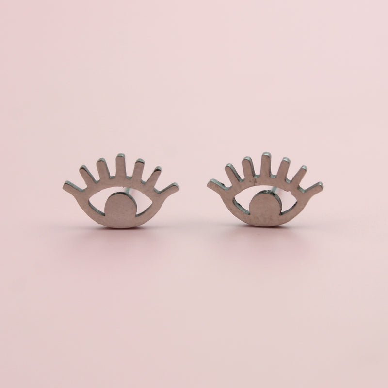 Eye Stud Earrings (Stainless Steel)