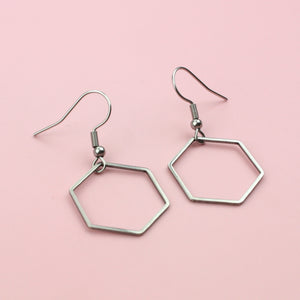 Classic Honeycomb Earrings (Stainless Steel)