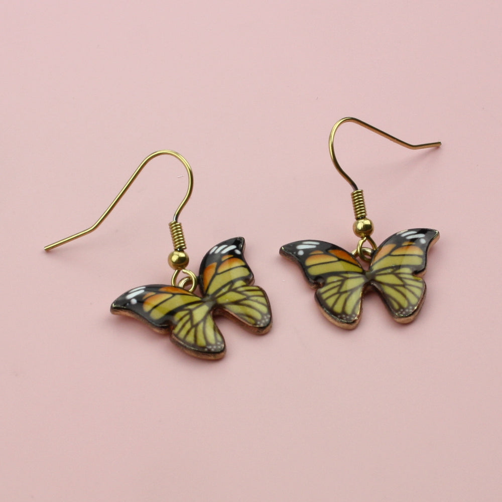 Load image into Gallery viewer, Autumnal Butterfly Earrings