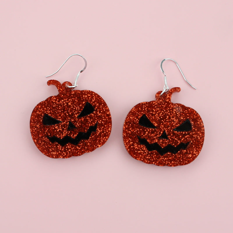 Glitter Pumpkin Spice Earrings