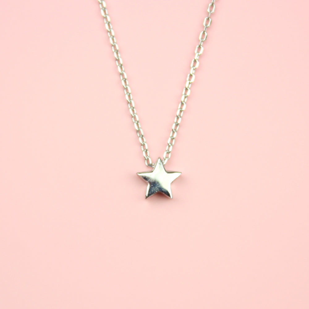 Single Star Necklace (Sterling Silver)