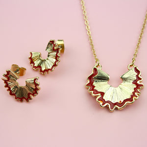 Load image into Gallery viewer, Pencil Sharpening Necklace & Earring Set