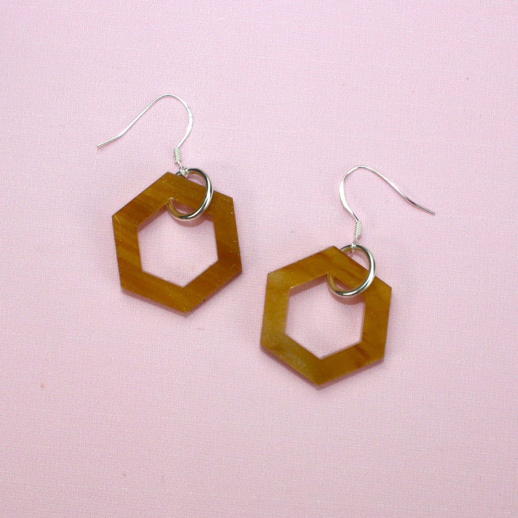 Small Honeycomb Earrings - Sour Cherry