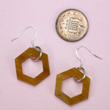 Load image into Gallery viewer, Small Honeycomb Earrings