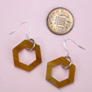 Small Honeycomb Earrings