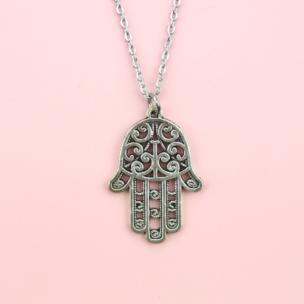 Load image into Gallery viewer, Hamsa Pendant Necklace