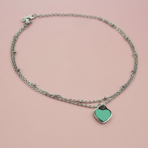 Load image into Gallery viewer, Turquoise Heart Bracelet