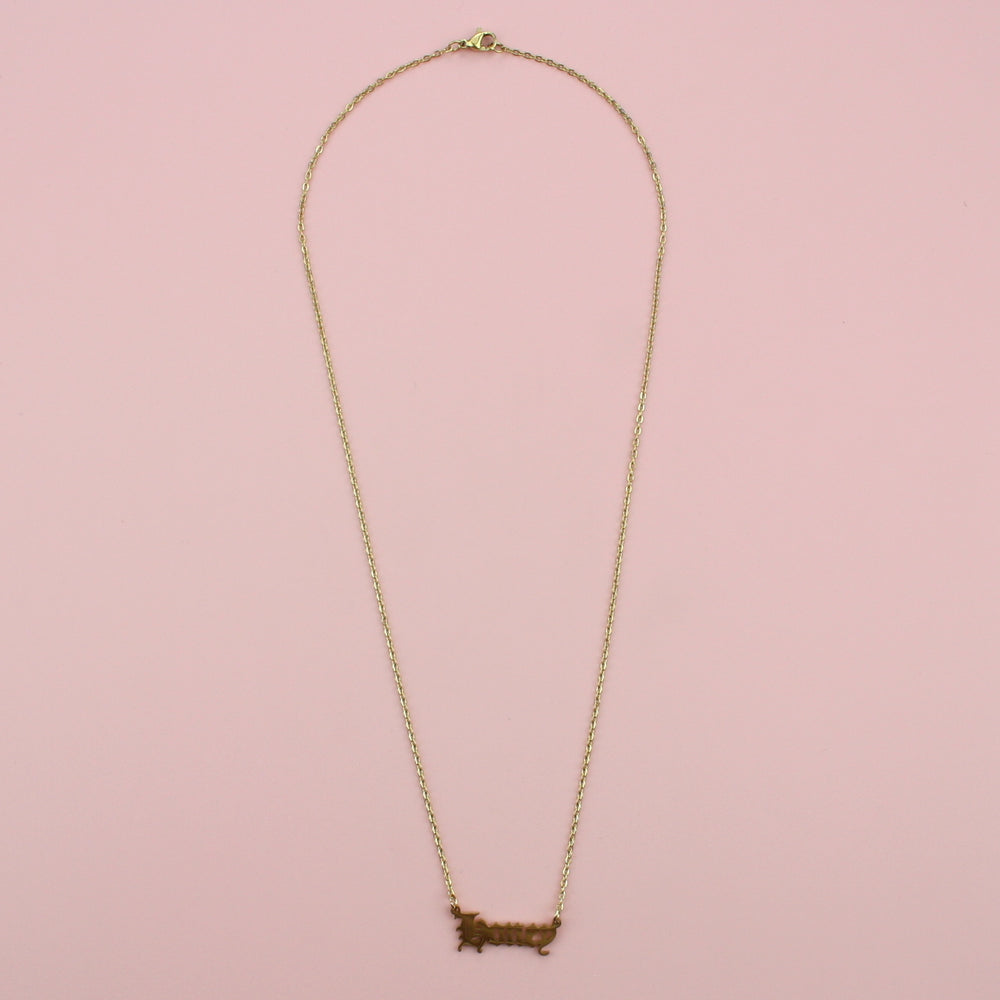 Honey Necklace (Gold Plated)
