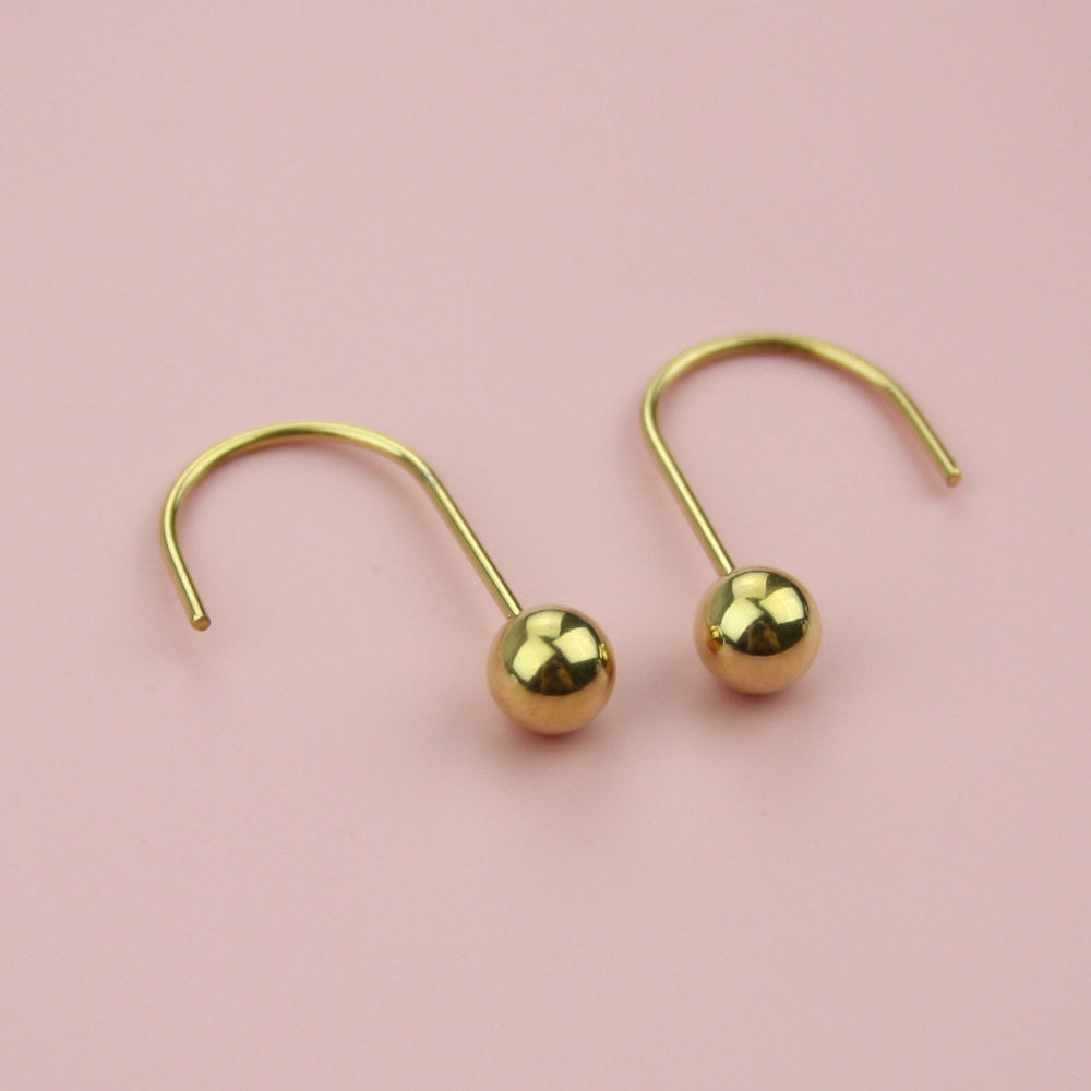 Load image into Gallery viewer, Loop & Drop Earrings (Gold Plated)