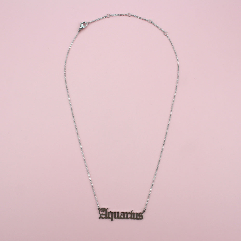 Load image into Gallery viewer, Aquarius Horoscope Necklace