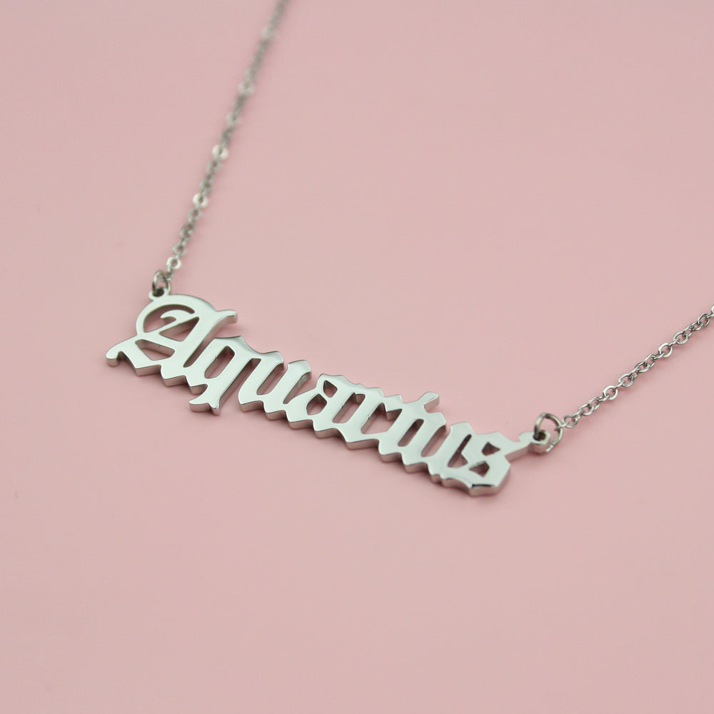 Aquarius Horoscope Necklace