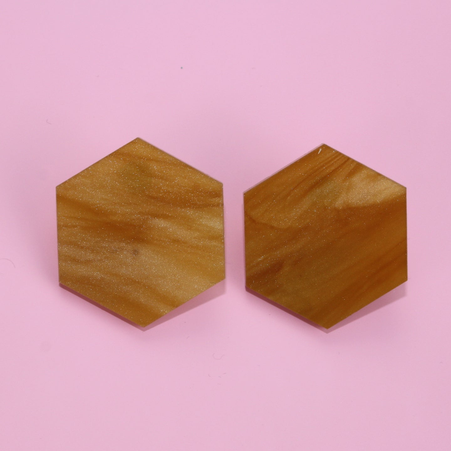 Honeycomb Stud Earrings (Large)