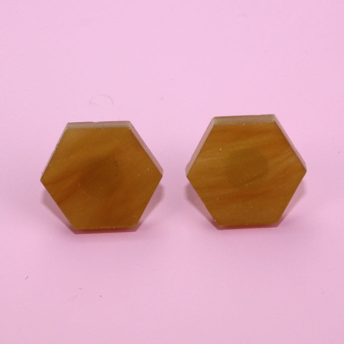 Honeycomb Stud Earrings (Medium)