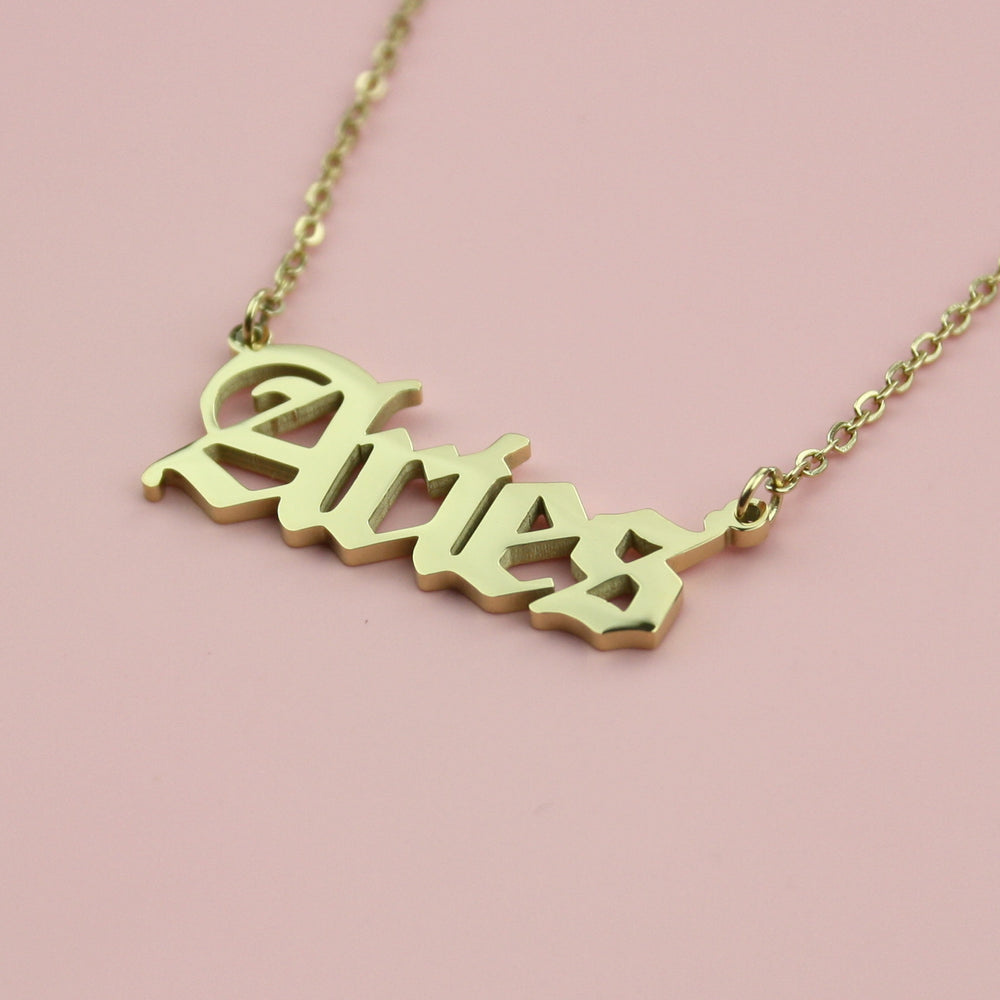 Aries Horoscope Necklace (Gold Plated)