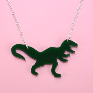 Dark Green T-Rex Necklace - Sour Cherry