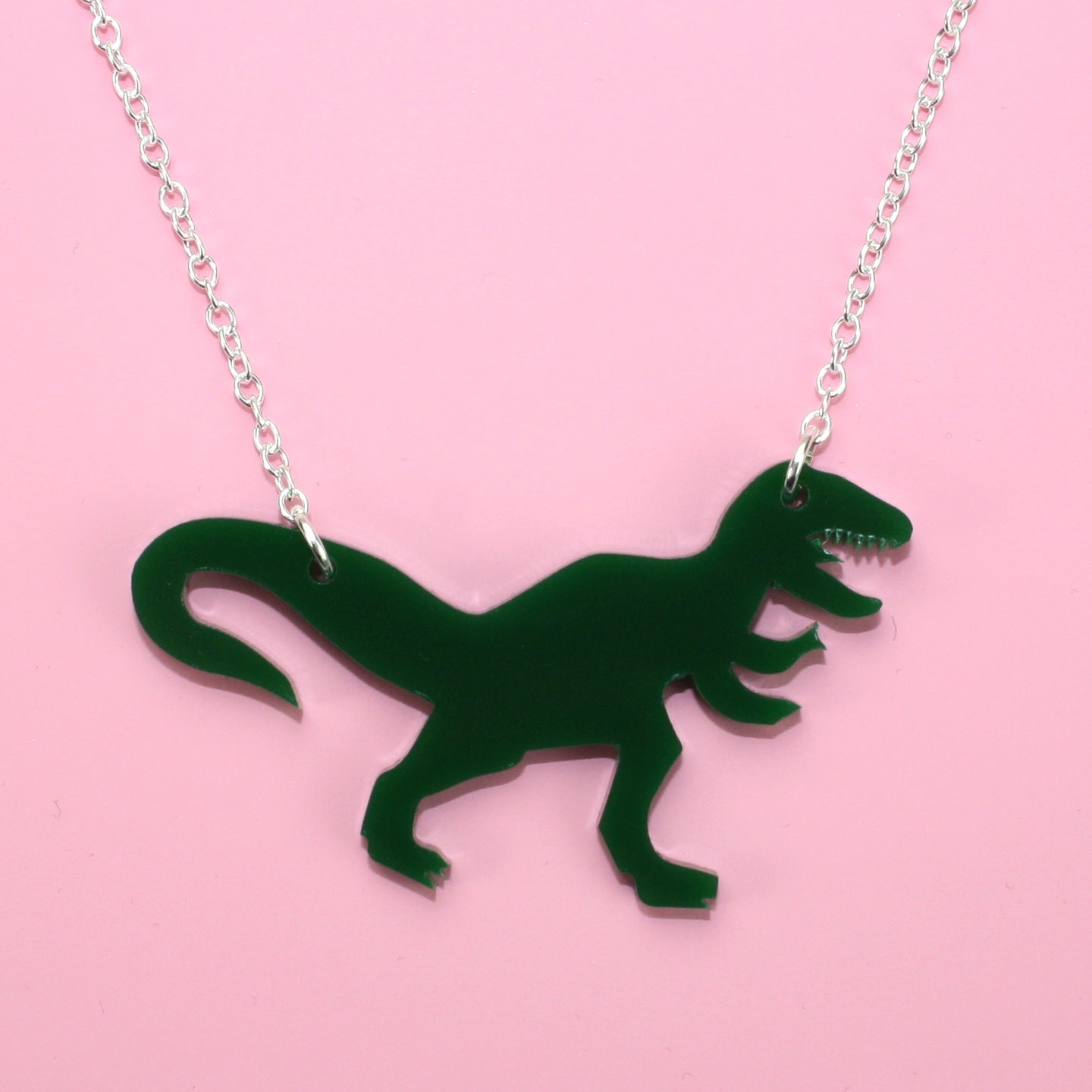 Dark Green T-Rex Necklace