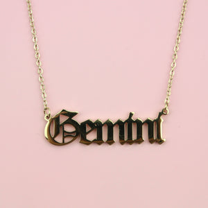 Gemini Horoscope Necklace (Gold Plated)
