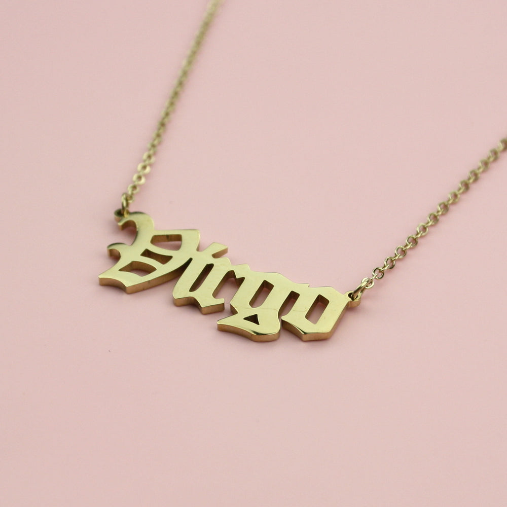 Virgo Horoscope Necklace (Gold Plated)