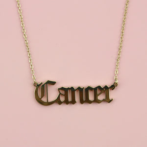 Cancer Horoscope Necklace (Gold Plated)