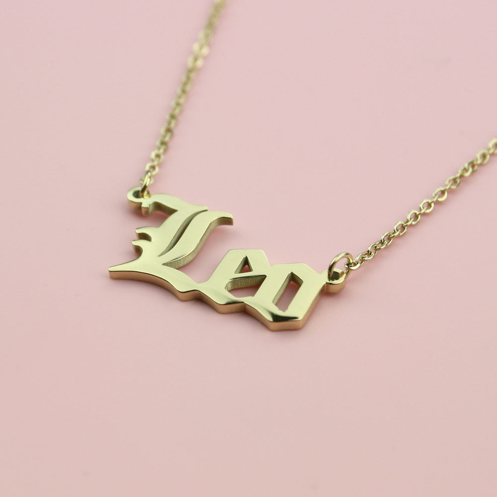 Load image into Gallery viewer, Leo Horoscope Necklace (Gold Plated)