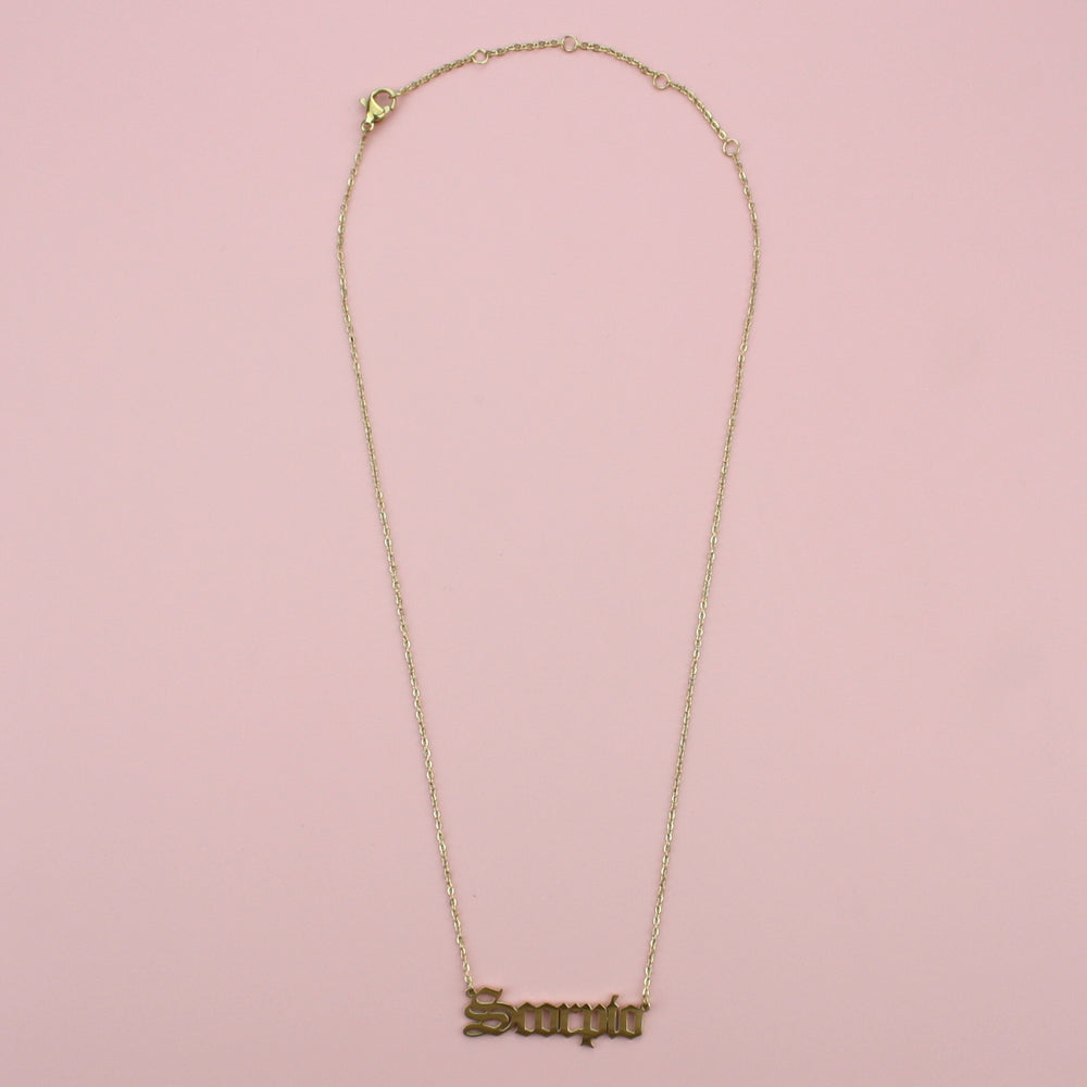 Scorpio Horoscope Necklace (Gold Plated)