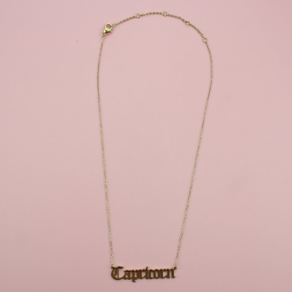 Capricorn Horoscope Necklace (Gold Plated)