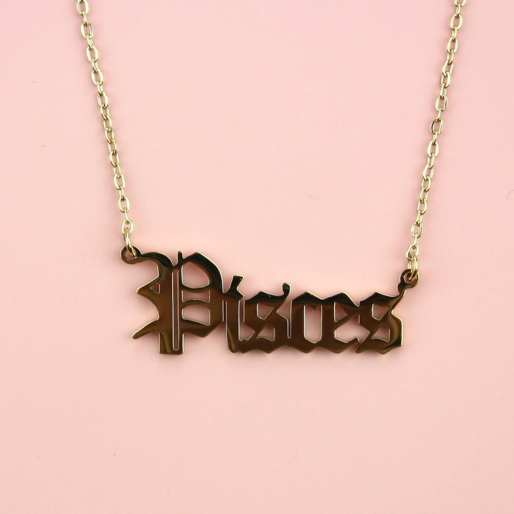 Pisces Horoscope Necklace (Gold Plated)