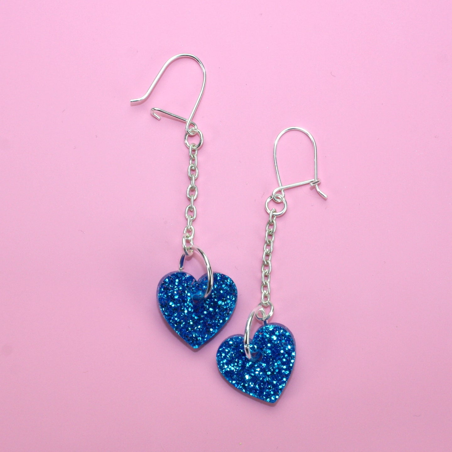 Blue Queen of Hearts Earrings (Small)