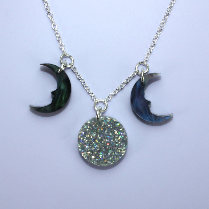 Galaxy Moon Phase Necklace