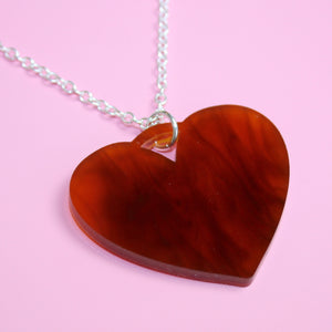 Tortoiseshell Heart Necklace