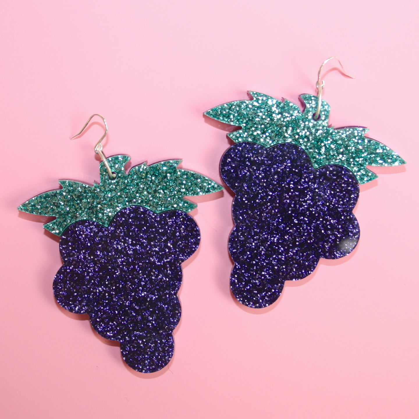 Large Grape Earrings