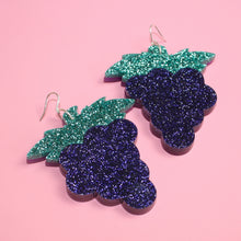 Load image into Gallery viewer, Large Grape Earrings