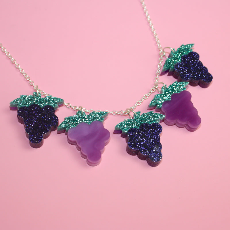 Heard It On The Grape Vine Necklace - Sour Cherry