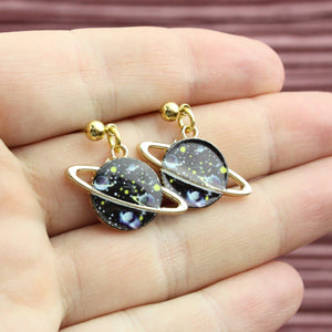 Black Galaxy Earrings