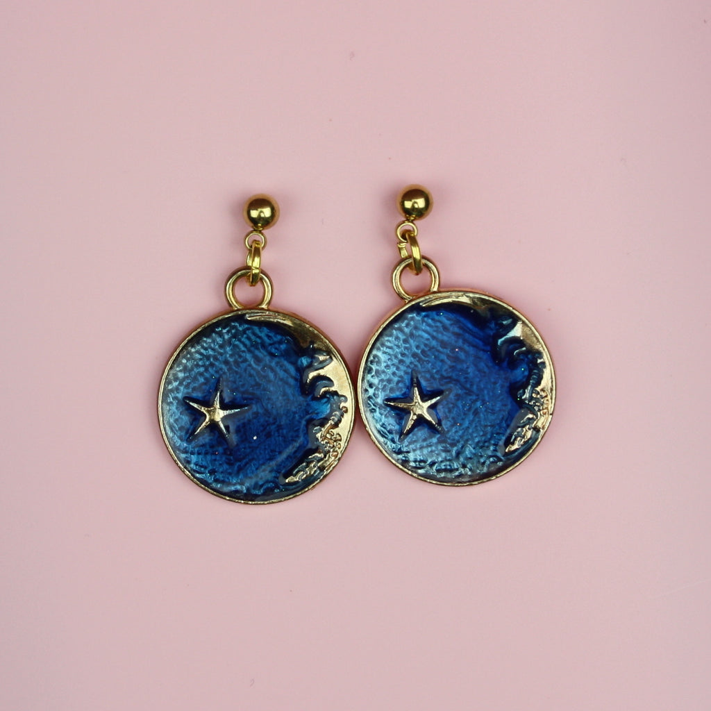 Once In A Blue Moon Earrings - Sour Cherry
