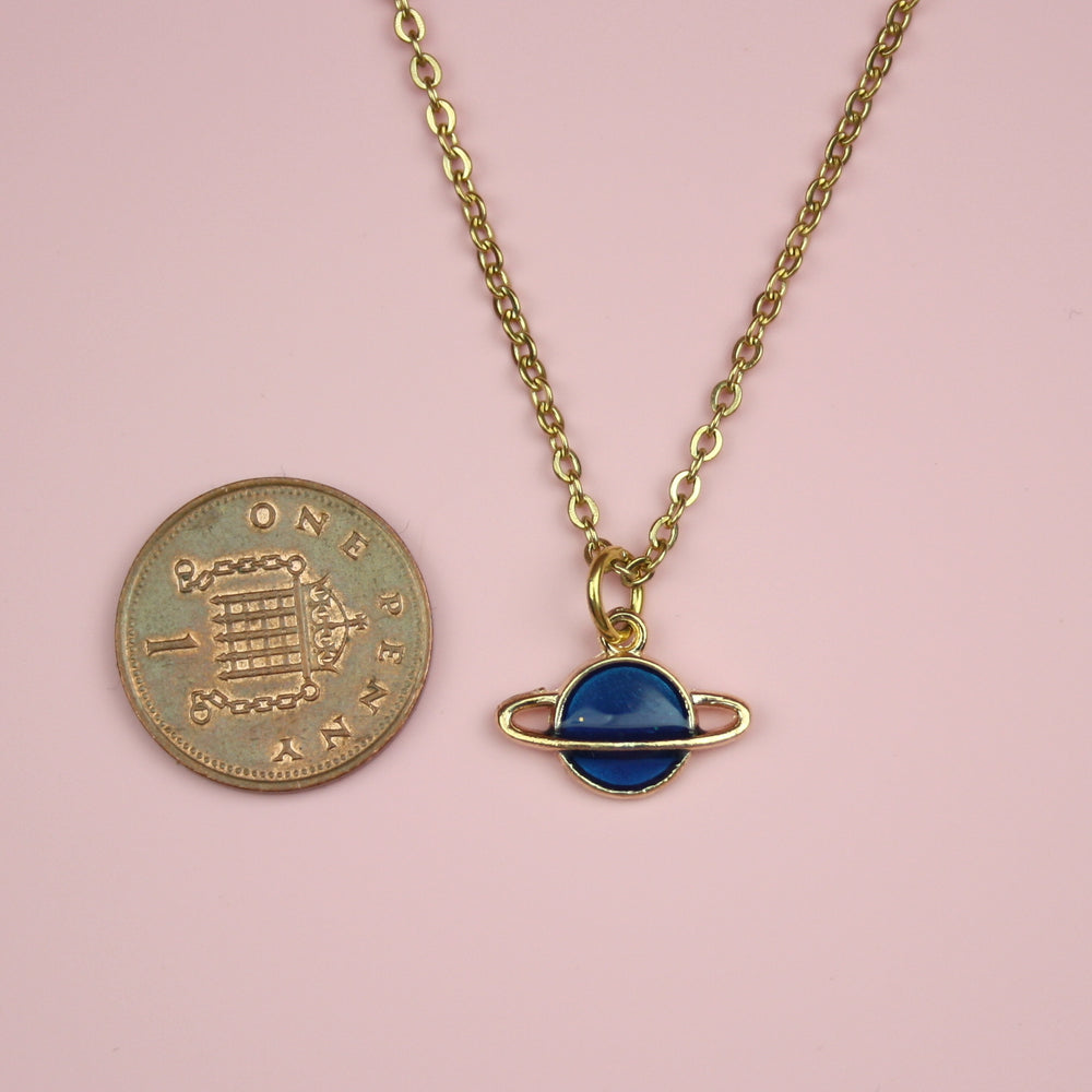 Load image into Gallery viewer, Blue Planet Necklace