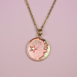Once In A Pink Moon Necklace