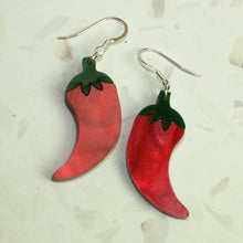 Load image into Gallery viewer, Small Feeling Hot Hot Hot Chilli Marble Earrings