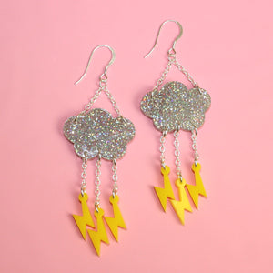 Acid Lightning Earrings - Sour Cherry