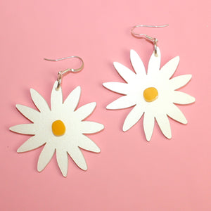 Large Daisy Earrings