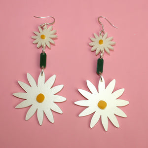 Long Daisy Chain Earrings