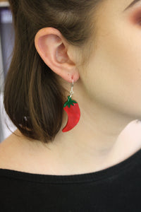 Small Feeling Hot Hot Hot Chilli Marble Earrings